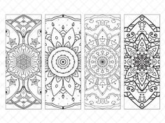 Bookmarks You Can Print and Color | Creative art journaling Group ...