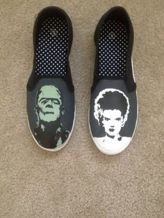 Frankenstein and Bride of Frankenstein by ColorfulCreations24, $30.00