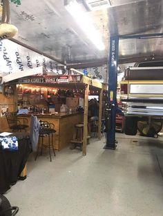 Convert Your Garage into a Man Cave - Man Cave Home Bar Cave Bar, Man Cave Home Bar, Man Cave Basement, Man Cave Garage, Barn Shop, Home Bar Accessories, Old Garage, Mechanic Garage, Shop Buildings