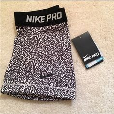 NWT NIKE PRO SHORTS Brand new! Goes with anything! Hot design!  Nike Shorts