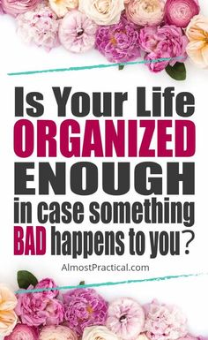 Tips for organizing your important documents and passwords, in case the unthinkable happens. Don't gift your mess to someone you love. Is your life organized enough, in case something bad happens to you? Organizing Paperwork, Paper Organization, Life Organization, Organizing Documents, Family Emergency Binder, In Case Of Emergency, Emergency Preparedness Kit, Emergency Preparation, Funeral Planning Checklist
