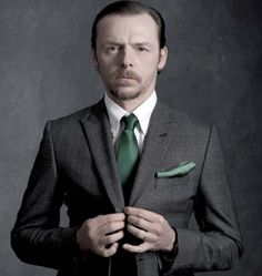 """Simon Pegg, he's so sexy, suddenly."" — It's all about the suit. ;)"