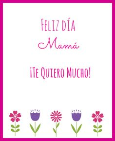 Free #Printables for Mother's Day in Spanish! #bilingualkids