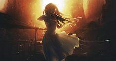 Anime 1566x827 anime girls anime sunset Shigatsu wa Kimi no Uso Miyazono Kaori