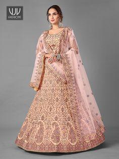 Rs13,400.00 Bridal Lehenga Choli, Lehenga Choli Online, Lehenga Blouse, Designer Bridal Lehenga, Party Wear Lehenga, Wedding Lehenga Online, Choli Designs, Peach Colors