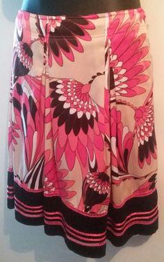 Worthington Skirt Fully Lined Multicolor Print Size 16W #Worthington #Pleated