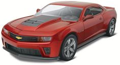 2013 Camaro® ZL1™ Plastic Model Kit, 1/25 scale.  Kit features a pre-decorated body, fully-detailed 6.2 liter V-8 engine, and metal axles. FROM REVELL. #85-4307