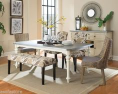 Matisse-Six-Piece-Dining-Set-with-Upholstered-Bench-and-Woven-Chairs
