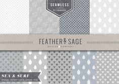 Check out (Seamless) Sea & Surf Patterns by Feather & Sage Design Co on Creative Market