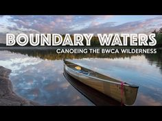 If you're looking to get away, unwind, and reconnect with nature, you really can't beat a backcountry canoe trip into Minnesota's pristine Boundary Waters Canoe Area. Canoe Trip, Canoe And Kayak, Whitewater Kayaking, Canoeing, Boundary Waters, Base Jumping, Rock Climbing, Outdoor Camping, National Parks