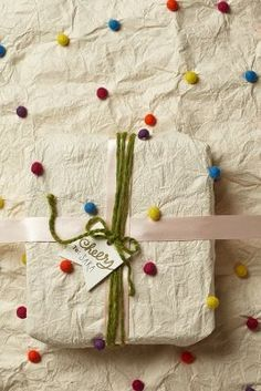 Pom Pom Wrapping Paper | anthropologie