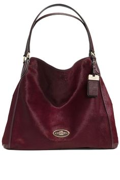 Slouch in Style: 8 Hobo Bags for Fall. Love this burgundy Coach. #WelcomeToGalleria