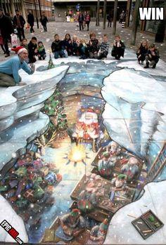 Christmas 3D Street Art