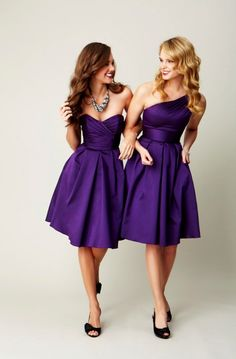 Bridesmaids dresses, varying styles.. Pretty color! I'd go nude shoes though.