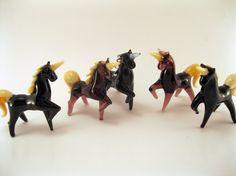 Blown Glass Unicorn Miniature Sculpture Figurine by flameingo
