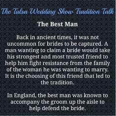 Tradition Talk The Best Man Duties Wedding Show Bridal