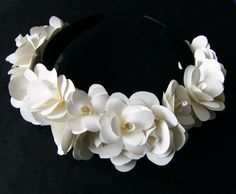 Paper Flower Headband by anissalee on Etsy