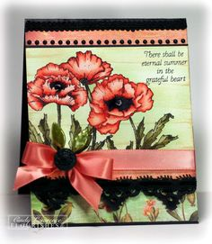 The Creative Closet - Poppy Patch 4 - OHS - great coloring sample for Copics and SU poppies.
