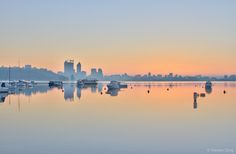 Sunrise over Matilda Bay - Steve Doig Photography