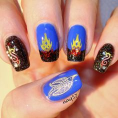 Hunger Games Catching Fire nail art http://instagram.com/naq57