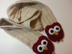 Crochet Pattern: Ribbed Owl Scarf | Poochie Baby Crochet Designs - So easy to make!