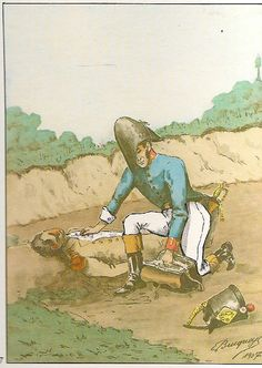 French; 153rd Line Infantry, Médecin aidé-major . Deledeuille mentioned in Daily Orders after the Battle of Hanau, 30th- 31st October,1813