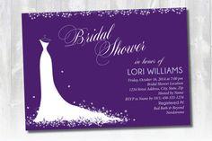 Bridal Shower Invitation Floral Wedding Dress by ShopLauralina