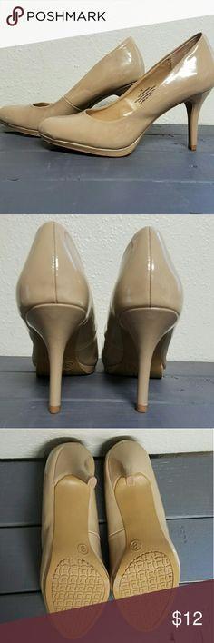 Nude heels 3 inch nude Merona heels from target. Like new! Merona Shoes Heels