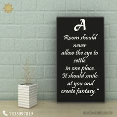 """"""" A room should never allow the eye to settle   in one place. It should smile at you and create fantasy."""" ☞ http://madscreations.in #interior #luxuryfurniture"""