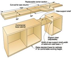 post your radial arm saw and it's table (pics) - The Garage Journal Board