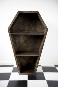 Coffin Bookcase (Bookshelf) – DeadRinger Gothic. Horror. Quirky. Melbourne