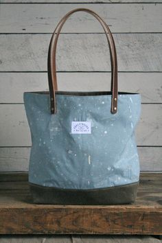 1970's era Painter's Drop Cloth Tote Bag - FORESTBOUND