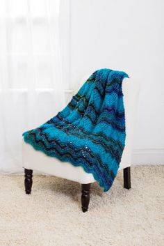 Loops & Threads® Charisma™ Lace Chevron Lap Throw (Knit)