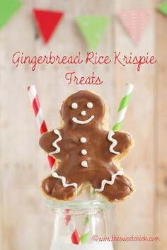 Gingerbread Rice Krispie Treats
