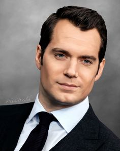 Henry Cavill at Batman v Superman New York red carpet.  Digital Painting. Submission for Henry Cavill World.