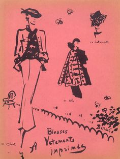 Chanel & Jean Patou 1937  Christian Bérard by Christian Bérard