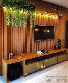 The Best 2019 Interior Design Trends - DIY Decoration Ideas Tv Unit Decor, Tv Wall Decor, Tv Cabinet Design, Tv Wall Design, Design Design, Tv Unit Furniture Design, Home Decor Furniture, Home Living, Living Room Decor