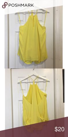 Mango top Top with thin straps and back drop from Mango, never used. Mango Tops Blouses