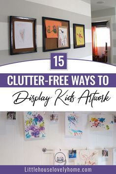 Anything done by our kids is just a masterpiece for us. Look at these amazing ways to display your kids' artwork. Clutter Organization, Home Organization Hacks, Kitchen Organization, Organizing, Creative Storage, Craft Storage, Garage Storage, Storage Ideas, How To Organize Your Closet