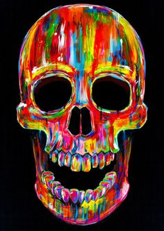 neon and skulls (by John Filipe)