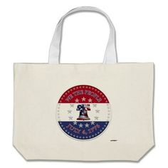 We The People July 4 1776 Bell with 13 & 50 Stars Bag   •   This design is available on t-shirts, hats, mugs, buttons, key chains and much more   •   Please check out our others designs at: www.zazzle.com/ZuzusFunHouse*
