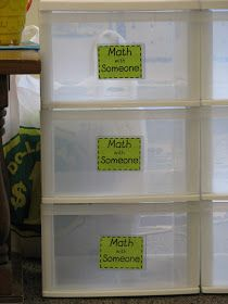The Reading Corner: Back to School Bonanza and Daily 5 Math Storage