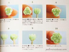 Creating Miniature Artificial Succulent Plants-dollhouse miniature plants