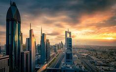 Dubai, United Arab Emirates, business centers, skyscrapers, modern architecture