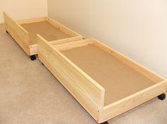 Under bed storage drawers - set of two storage underbed draws: Amazon.co.uk: Kitchen & Home