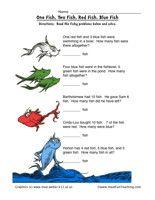 Dr. Seuss Math Worksheet