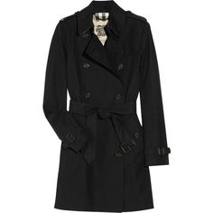 Burberry London Short cotton double-breasted trench coat