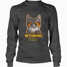 Cat Is Watching Wyoming #Total #Solar Eclipse 2017 TShirt, Order HERE ==> https://www.sunfrog.com//135953517-979319990.html?6782, Please tag & share with your friends who would love it, #christmasgifts #renegadelife #birthdaygifts