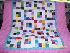 """Handmade Baby Quilt / Blanket 40"""" x 49"""" scrappy pattern"""