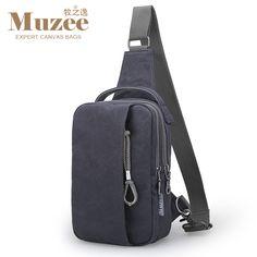 2016 Nuevo Muzee Lienzo Bolso De La Cintura bolso Retro de Una Sola correa de Hombro de Los Hombres bolsa de Viaje de Gran capacidad del bolso